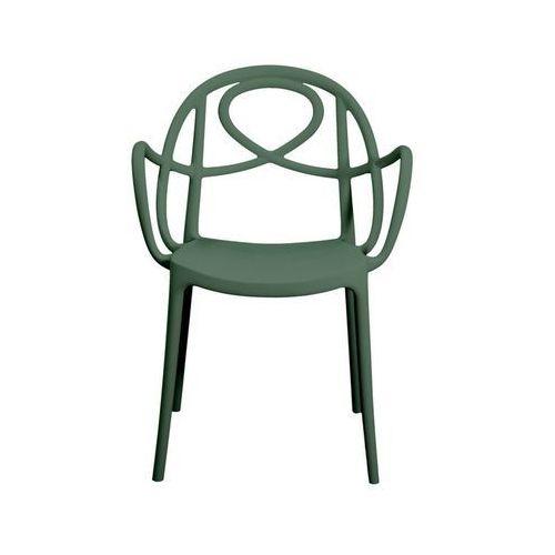 Krzesło ogrodowe Green Etoile P zielone ze sklepu All4home