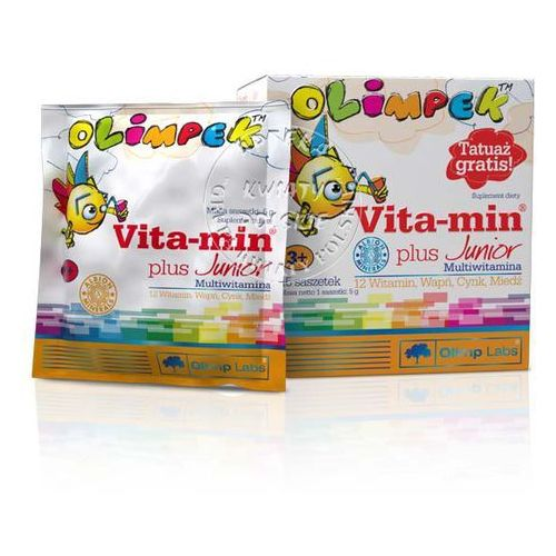Olimpek vita-min plus junior multivitamina x 15 saszetek o smaku pomarańczowym, postać leku: proszek