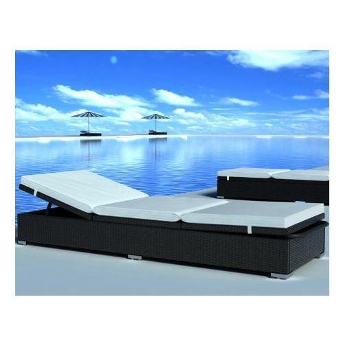 Łóżko rattanowe, leżak, czarne - produkt dostępny w VidaXL