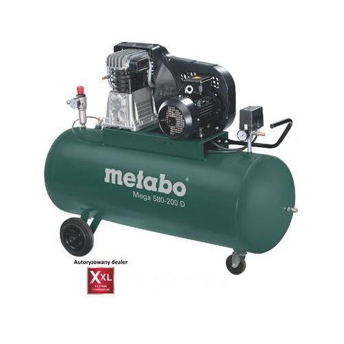 Kompresor elektryczny olejowy Mega 580-200 D Metabo, kup u jednego z partnerów