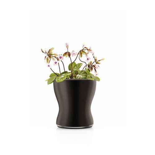 Produkt  Samopodlewająca doniczka o łagodnych liniach 11 cm czarna, marki Eva Solo