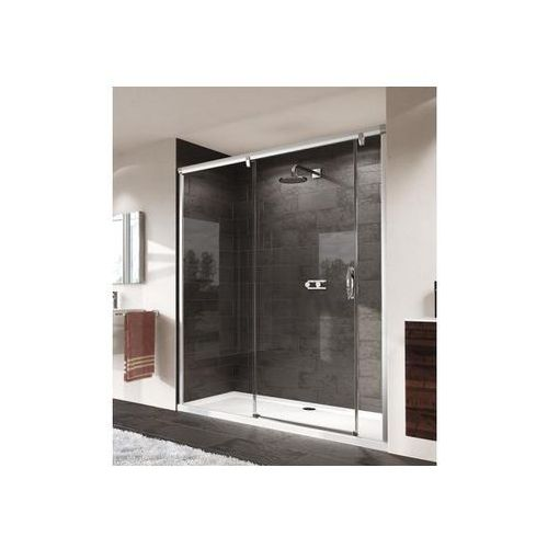 Huppe Aura Elegance Drzwi suwane ze stałym segmentem i częścią boczną - Mocowanie lewe 180/190cm srebrny