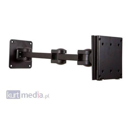 Towar Uchwyt do LCD 10''-25'' VESA 75/100 uchylny/obrotowy 2xramie max.25kg czarny z kategorii uchwyty i ramiona do tv