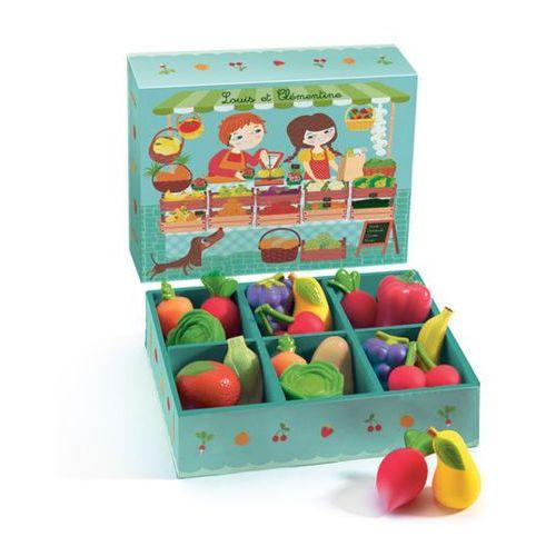 Owoce i warzywa w skrzynce  DJ06621, Djeco z tublu.pl