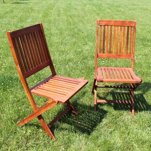 Drewniane Krzesło Ogrodowe TERESA Akacja 90x57x45cm ze sklepu KochamOgrody.pl