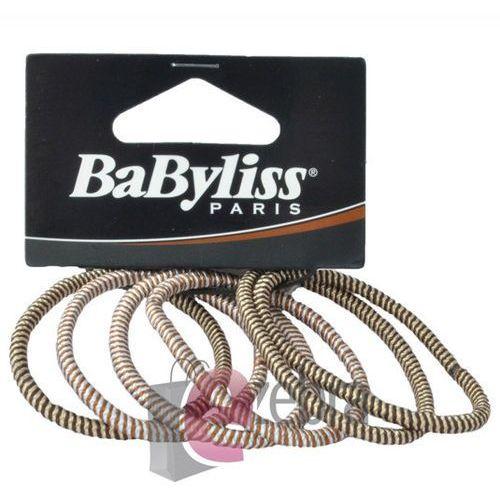 Produkt z kategorii- pozostałe kosmetyki do włosów - BABYLISS ZESTAW GUMEK DO WŁOSÓW BRĄZ PASKI 31481E - 31481E