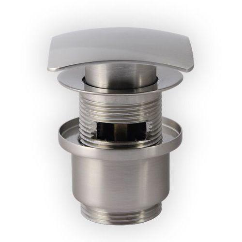 Produkt z kategorii- pozostałe artykuły hydrauliczne - Korek click-clack KKSS nikiel szczotkowany kwadrat No
