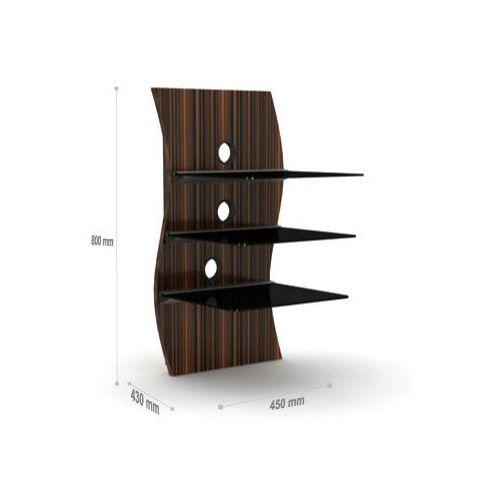 Nikea 04 - Ścienna półka/ kolumna Audio-Video-DVD, do 30kg, różne kolory! z kat.: półki rtv
