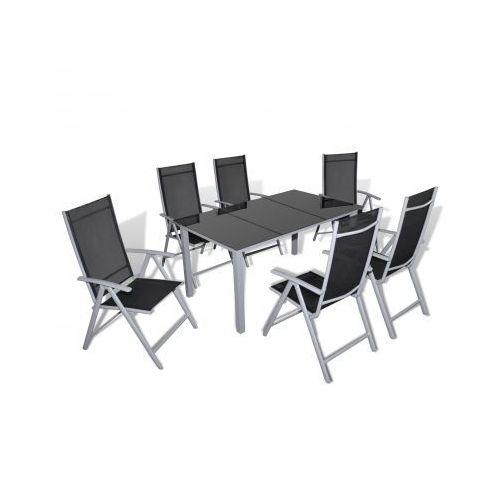 Meble ogrodowe, aluminium, stół i 6 krzeseł, produkt marki vidaXL