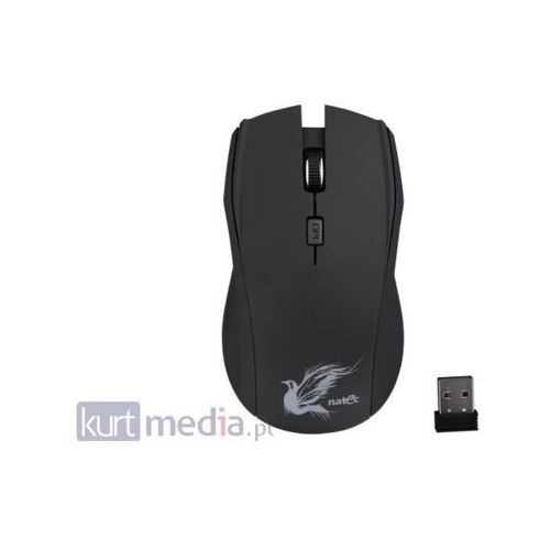 Natec Mysz z cichym klikiem  blackbird optyczna bezprzewodowa nano 2.4ghz