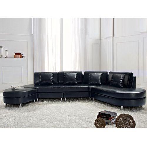 Sofa czarna skórzana COPENHAGEN, Beliani