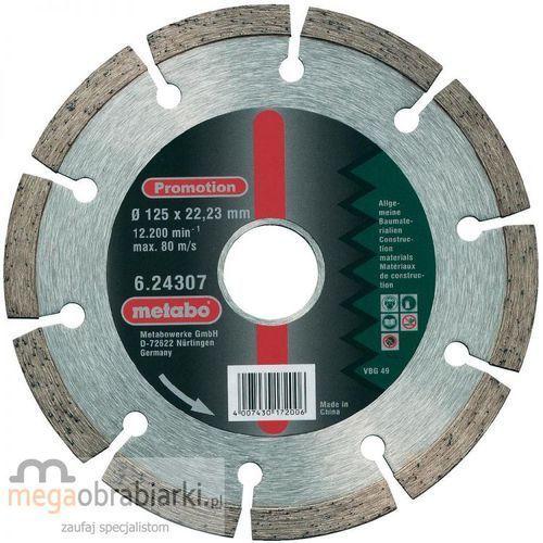 METABO Tarcza diamentowa 115×22,23 mm - Promotion ze sklepu Megaobrabiarki - zaufaj specjalistom