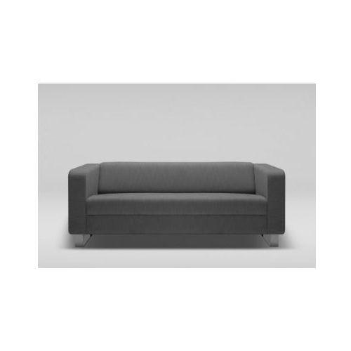 Sofa CUBBY trzyosobowa skóra naturalna / płozy chrom, Marbet Style
