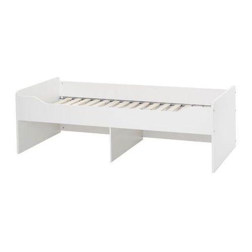 COMBEE białe łóżko pjedyncze niskie bez szuflad ze sklepu Meble Pumo
