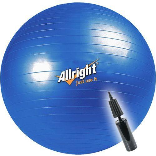 Piłka gimnastyczna ALLRIGHT 55cm + pompka, produkt marki Allright