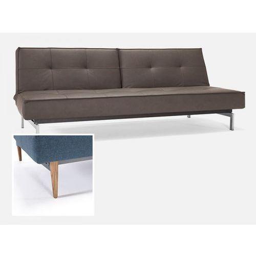 Sofa Splitback brązowa 592 nogi jasne drewno  741010592-741024-1-6, INNOVATION iStyle