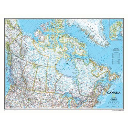 Kanada. Mapa ścienna Classic w ramie 1:8 mln wyd. , produkt marki National Geographic