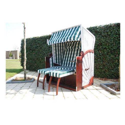Komfortowy leżak, fotel ogrodowy, zielono-biały. - produkt dostępny w VidaXL