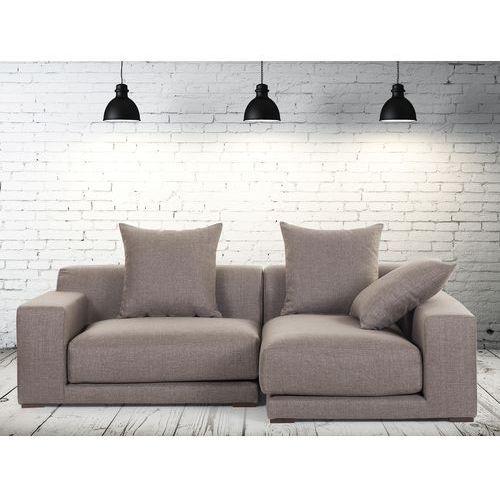 Sofa narozna L - tapicerowana - piaskowa - CLOUD, Beliani