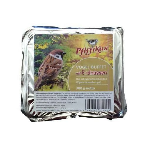 Ptasi bufet - 1 x wypełnienie orzeszki ziemne 300 g, Pfiffikus