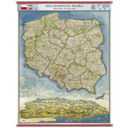 Polska panorama administracyjno-drogowa mapa ścienna 96 x 136 cm , produkt marki Pergamena