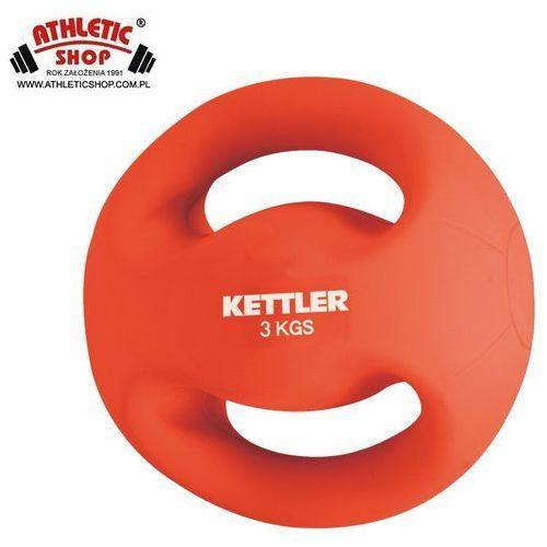 Piłka fitness z uchwytami 3 KG KETTLER czerwona od ATHLETICSHOP