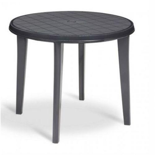 CURVER Stół LISA, 90 x 73cm, antracyt, 143634 (stół ogrodowy)