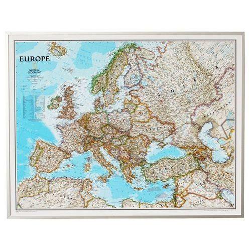 Europa. Mapa ścienna polityczna Classic magnetyczna w ramie 1:5,5 mln wyd. , produkt marki National Geographic
