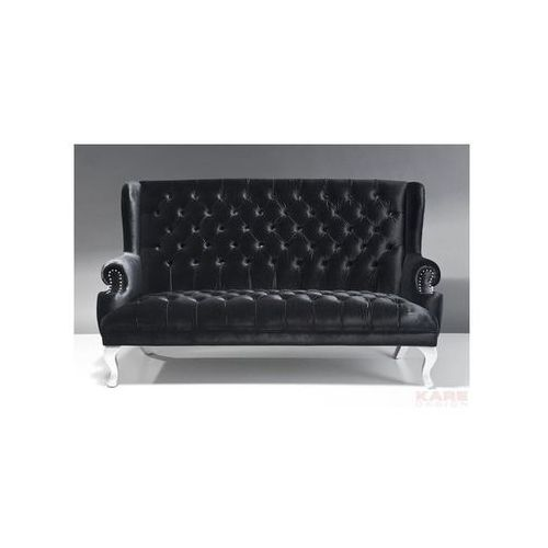 Vegas Barocco Sofa Czarna Tkanina 190x108cm (76751), Kare Design