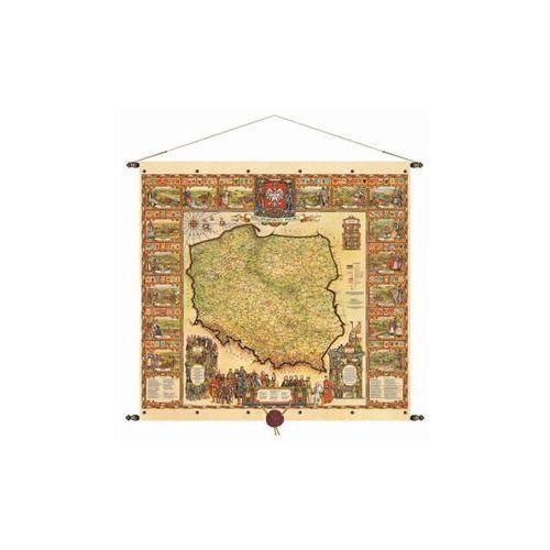 Rzeczpospolita Polska mapa ścienna 97x92,5 cm , produkt marki Pergamena