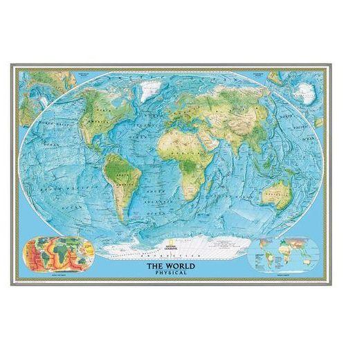 Świat. Mapa ścienna fizyczna w ramie 1:24 mln wyd. , produkt marki National Geographic