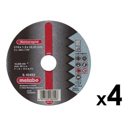 4 szt. tarcz tnących 230x1,9x22,23mm do stali nierdzewnej Novorapid Metabo ze sklepu NEXTERIO