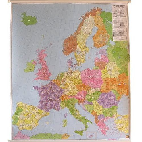 Europa. Mapa ścienna kodów pocztowych 1:3,7 mln wyd. , produkt marki Freytag&Berndt