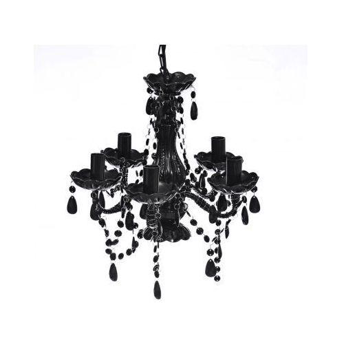 Żyrandol, 5 żarówek, Czarny z kategorii oświetlenie
