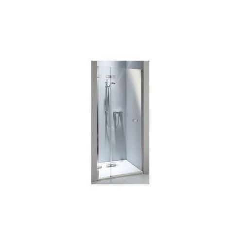 Koło Next Drzwi prysznicowe do wnęki , skrzydłowe - 100/195 cm Szkło przezroczyste Srebry błyszczący Moc