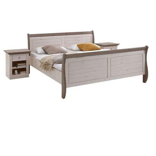 MONACO romantyczne łóżko sosna bielona/stone ze sklepu Meble Pumo