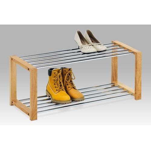 Półka na buty, 2 piętra, naturalne drewno z kategorii szafki na buty