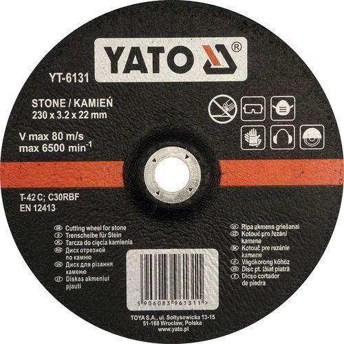 Oferta Tarcza do cięcia kamienia, wypukła 230x3.2x22 mm YT-6131