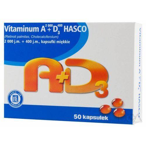 Vit. A+D3 (2000j.m.A+400j.m.D3) kaps.elast, postać leku: kapsułki