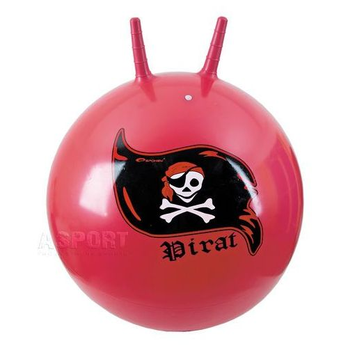 Piłka skacząca z rogami 60cm PIRAT czerwona , produkt marki Spokey