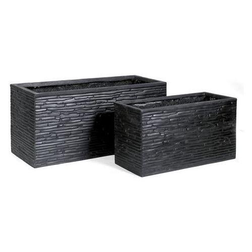 Donica prostokątna Fibreclay szerokość 60cm czarna pz01czarna62 od Fajnedonice.pl