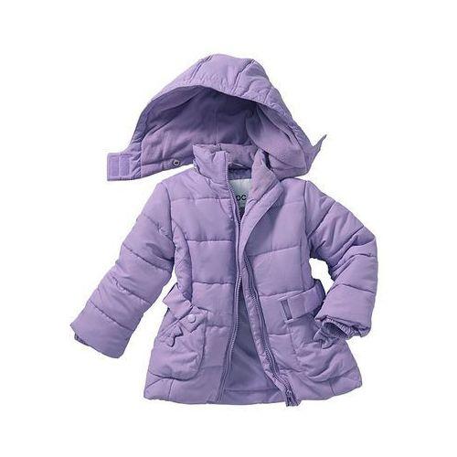 Długa kurtka watowana  w kolorze bzu, bonprix z bonprix