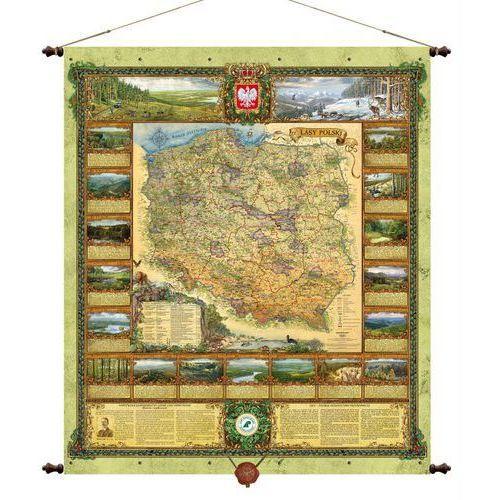 Polska Lasy Państwowe mapa ścienna , produkt marki Pergamena