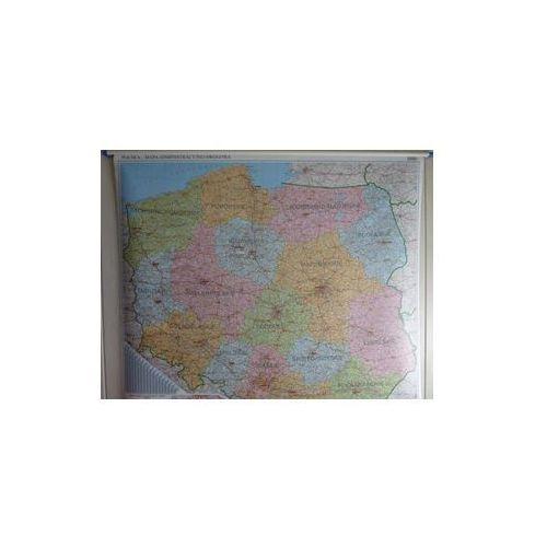 Polska mapa ścienna administracyjno-drogowa 1:500 000 Ekograf, produkt marki Eko-Graf