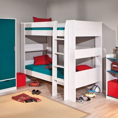 Łóżko piętrowe Carla biały 205x117 cm ze sklepu FUTURI Nowoczesne Meble