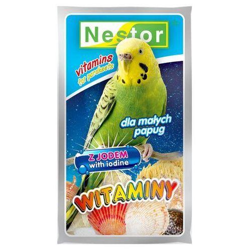 NESTOR 20g Witaminy z jodem dla papużek falistych, Nestor