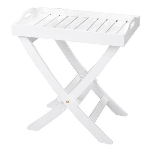 Stolik taca Cinas biały 60x40 cm (stół ogrodowy)
