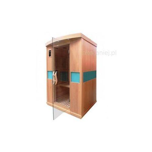Sauna na podczerwień 2-osobowa, 1650W, drewno cedrowe z kategorii Pozostałe ogrzewanie