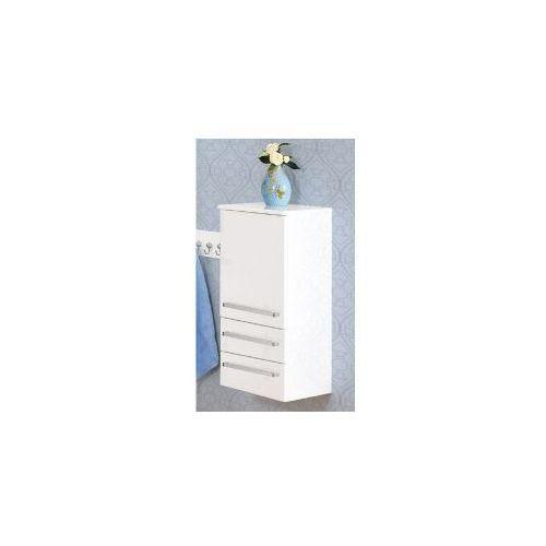 Szafka Antado F-4 słupek 89 cm z 2 szufladami biała FM-C-494/2 - produkt z kategorii- regały łazienkowe
