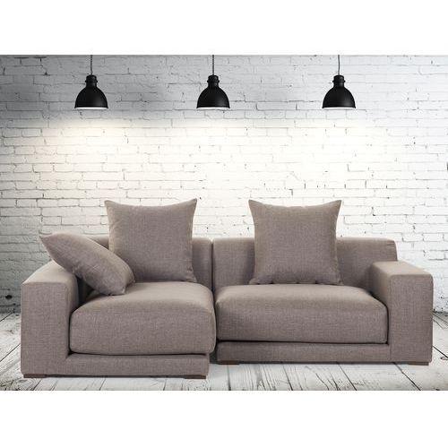 Sofa narozna P - tapicerowana - piaskowa - CLOUD, Beliani